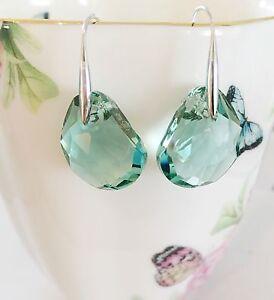 8dd941e95 Made from Swarovski crysta drop in Ocean-cut Green Crystal Galet ...