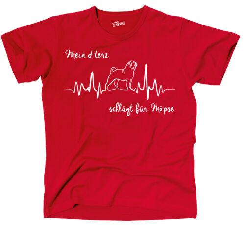 Theart t-shirt chiens chien Heartbeat seins BALAIS mon cœur siviwonder