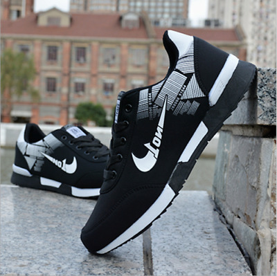 Black Men's Sports Breathable Sneakers Shoes Casual Fashion Running Athletic HOT