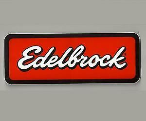"Edelbrock vinyl decal sticker 3.5/"" X 9 /"""