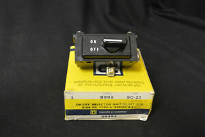 SQUARE D SC-21 09394 ON-OFF SELECTOR SWITCH KIT FOR SIZE 00 ~ TYPE A