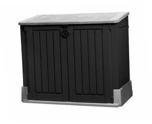 Keter-Muelltonnenbox-Kissenbox-Universalbox-Gartenbox-845-Liter-Kunststoffbox-Neu
