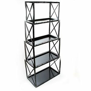 VINTAGE INDUSTRIAL IRON STACK SHELVING