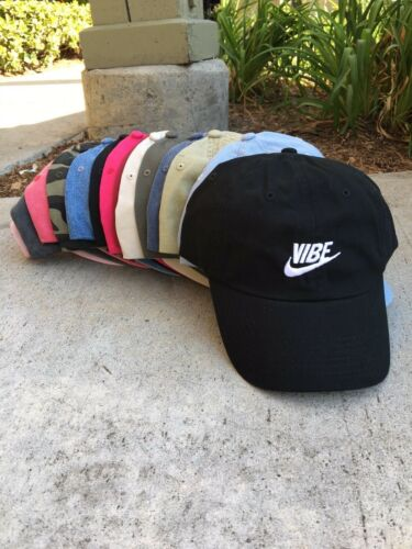 Just Vibe Swoosh Unstructured EMBROIDERED Dad Hat Adjustable Cap Multi Colors