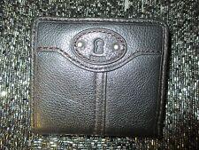NEW Fossil Maddox Bifold Wallet ID Bag Handbag Real Leather Black