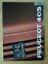 PEUGEOT 405 ESTATE RANGE orig 1988 1989 UK Mkt Sales Brochure