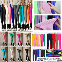 S,M,L,XL HOT Candy Color Stretch Leggings Shiny Skinny Sexy Trouser Pencil Pants