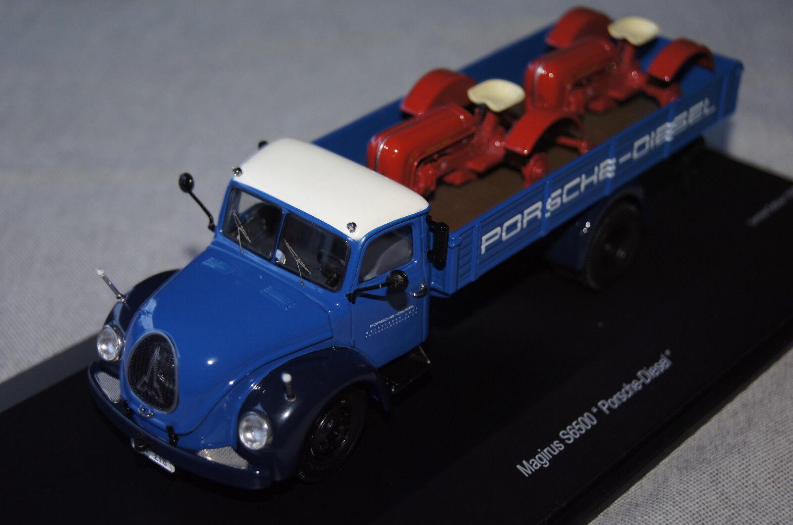 Magirus S6500  Porsche Diesel  bleu-blanc 1 43 Schuco neu & OVP3167
