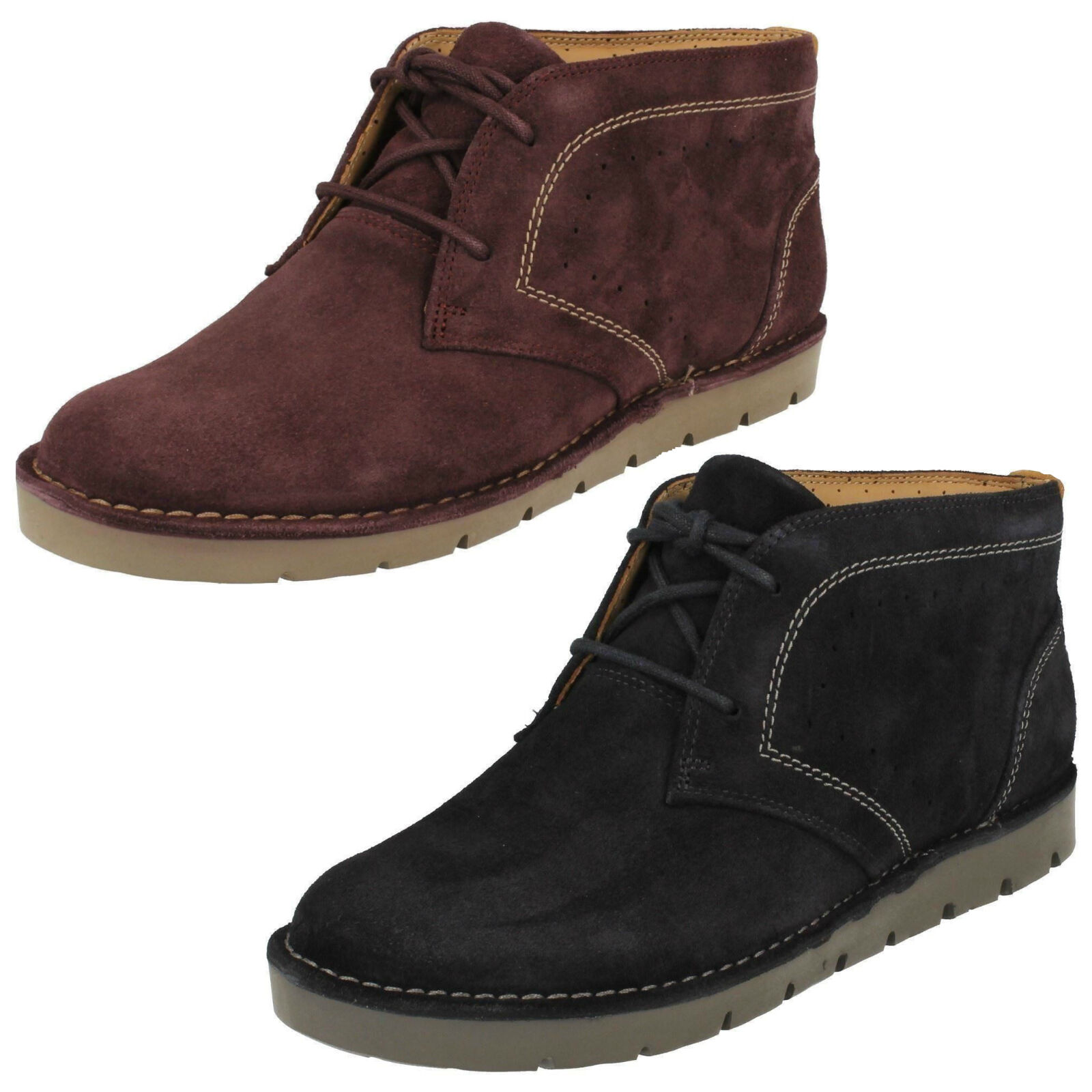 Ladies Clarks Unstructured Un Astin Suede Leather Casual Lace Up Ankle Boots