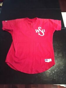 Game-Worn-Used-Washington-State-Cougars-Baseball-Jersey-23-Size-46