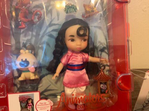 "FS Authentic Disney Store Animators ""Mulan mini Doll playset"" Brand New"