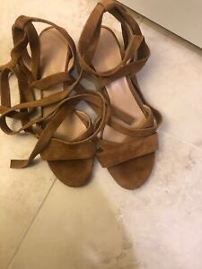 Saks-Fifth-Avenue-Strappy-Block-Heel-Sandals-Cognac-10M-US