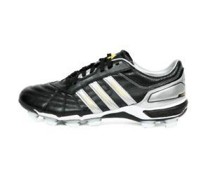 Detalles de Nuevas Adidas para hombre 118 Pro Fg Botas De Rugby Cuero Negro Plateado Blanco Moldeado Stud ver título original