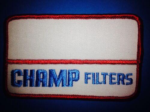 Vintage Champ Air Filters Car Auto Patch Uniform Work Shirt Coveralls Crest