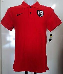 Toulouse Rugby Rouge S/s Polo Shirt Par Nike Taille Homme S Neuf Avec étiquettes-afficher Le Titre D'origine De Nouvelles VariéTéS Sont Introduites Les Unes AprèS Les Autres