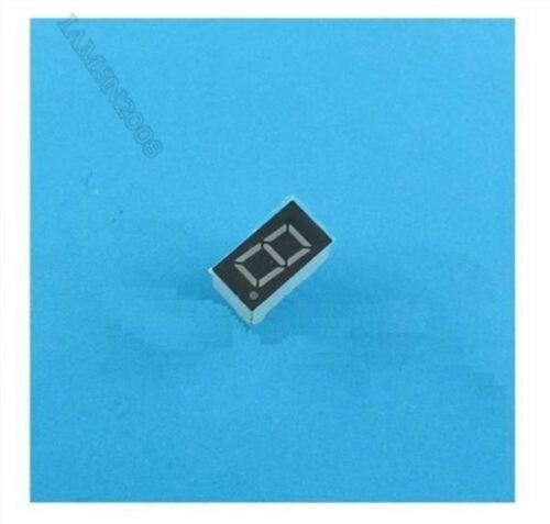 10Pcs 0.56 Zoll 1-Stellige Blaue Led-Anzeige 7-Segment-Kathode vc