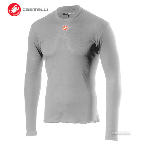 Castelli PROSECCO R LS Long Sleeve Mid Weight Cycling Base Layer SILVER GREY