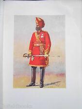 Antiquarian Indian Army Print (1911) Bharatpur Infantry Commandant - A C Lovett