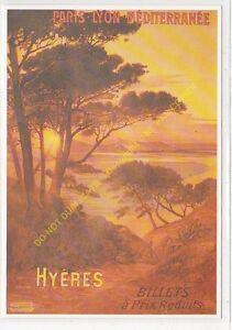CP Poster Chemins Iron P. L.M.Hyères Edit Clouet 10001