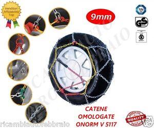 -Catene da neve a rombo da 9mm Omologate ONORM V 5117 Pneumatico gomma 135/80R14