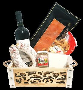 Strenna di Natale SILVER BOX 1 - Cesto Natalizio Gastronomico salumi formaggi