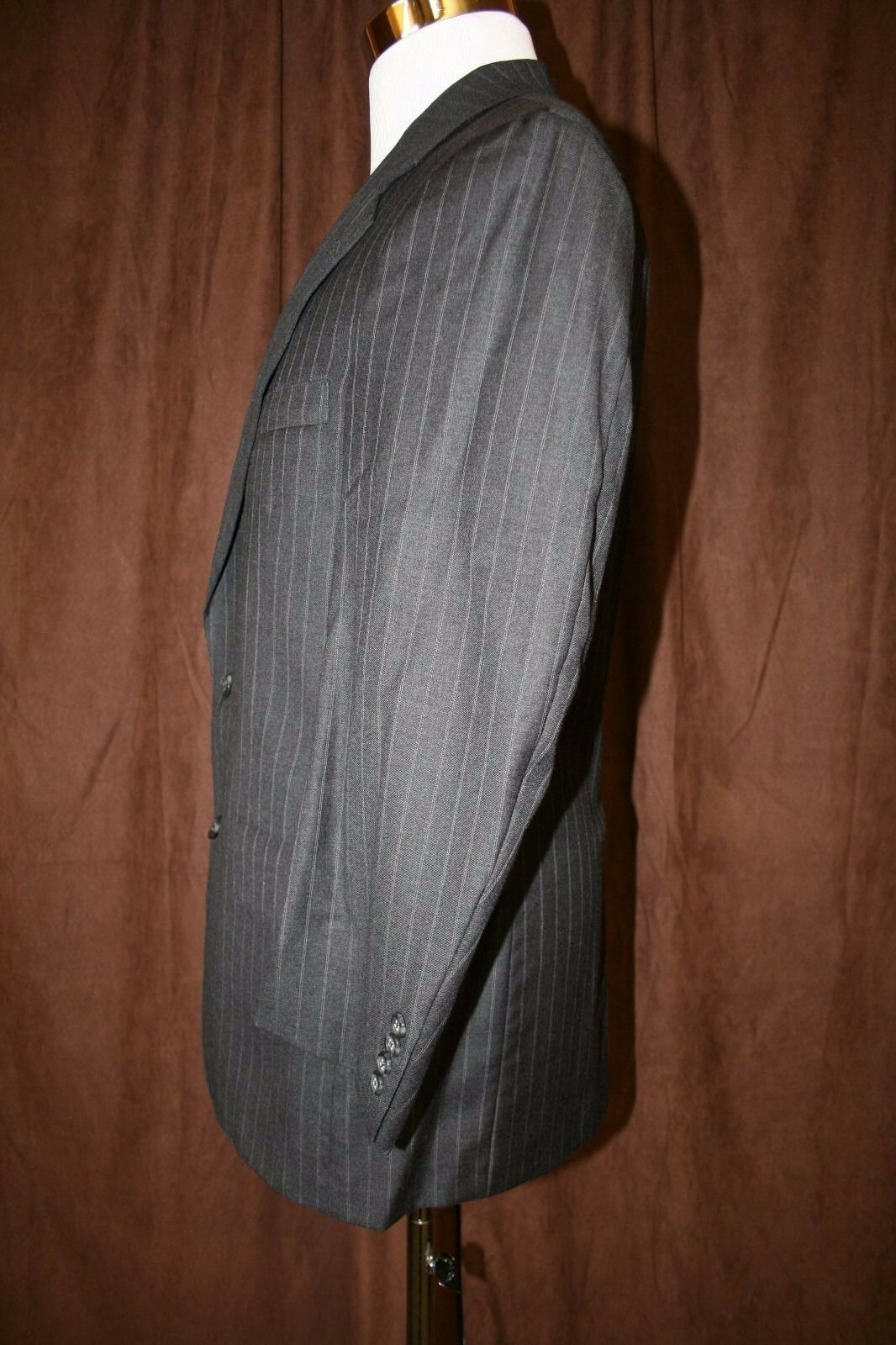 Brooks Brooks Brooks Brothers Hand Tailorosso Blazer 39R Gris Pinstripe 2 Button Union Made USA 3c9728