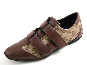 Gucci Low Top Sneakers Brown Leather GG Canvas Women Size EU 36.5 US 6.5 $480