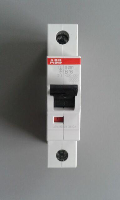 ABB S201 B16 Sicherungsautomat / Sicherung 16A 1-polig - Leitungsschutzschalter