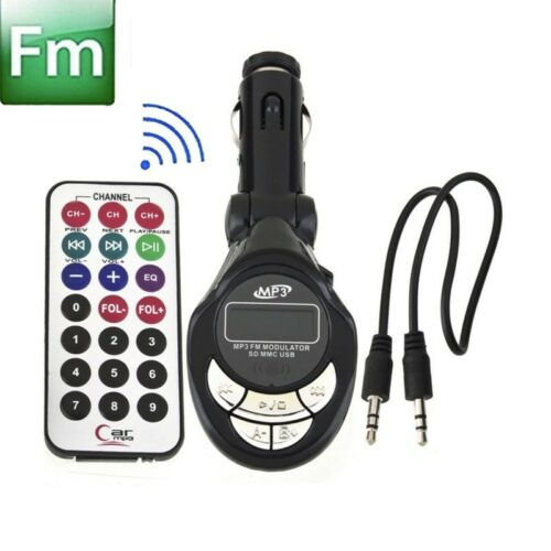 Car MP3 Player Wireless FM Transmitter Modulator USB SD//MMC//USB//CD Remote XRC US