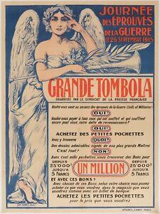 Affiche-Originale-Merson-Grande-Tombola-Presse-Francaise-Guerre-14-18-1915