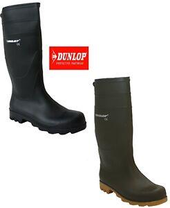 Uomo-Nuovi-Stivali-Wellington-DUNLOP-Cane-Passeggio-Pioggia-Neve-Giardino-Impermeabile-Stivali-di