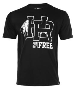 Headrush Mens HR Stand Tall Stand Proud T-Shirt street training Black
