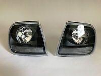 Ford F150 1997-2003 svt Lightning Style Euro Black Clear Front Corner Lights