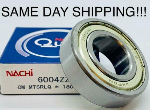 6004ZZ Nachi Bearing 20x42x12 Quality 6004-ZZ SAME DAY SHIPPING !!!
