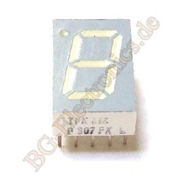 "2 Pcs HP LED DISPLAY DIGITAL 7 Segment 0.78/"" 11 Pin 1-BIT 5082-7730 218D 220D"