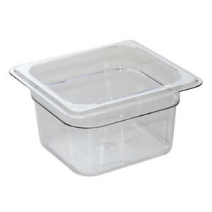 Black Cold Food Pan Cover with Handle Sixth-Size Camwear Pans