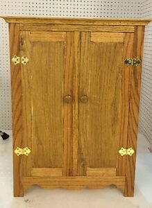 Image Is Loading Handmade Wooden Doll Armoire Perfect For American Girl
