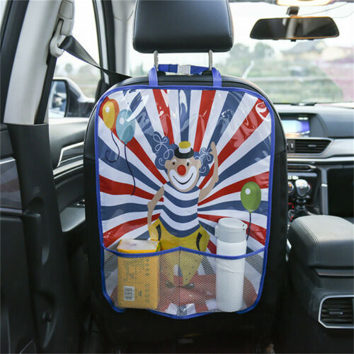 Car Seat Back Protector Cover Children Anti-Kick Mat Storage Bag Tidying LA