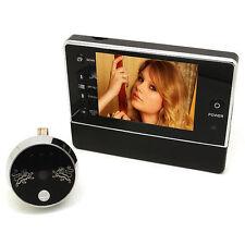 Digital Door Doorbell Peephole Viewer IR Camera DVR Night Vision Security Cam