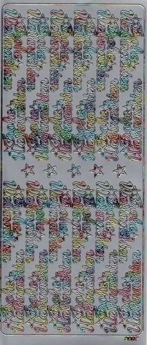 106-108 Basteln Zierstickerbogen Scrapbooksticker Sticker Frohe Weihnachten