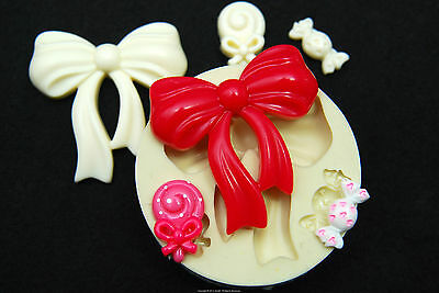 Ribbon #2, Silicone Mold Chocolate Polymer Clay Jewelry Soap Melting Wax Resin