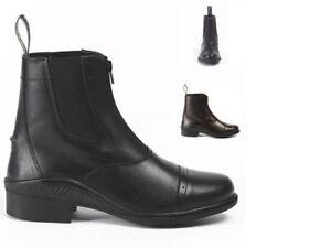 Brogini-Tivoli-Boots-Zip-Paddock-Jodhpur-Black-Brown-30-99-D