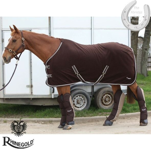 Rhinegold Elite Ripstop Full Length Travel Boots – PONY – BROWN MOCHA