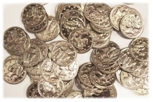 """Aluminum Jingle Coins Belly Dancing Jewelry Craft Costume 18mm Silver 11//16/"""""""