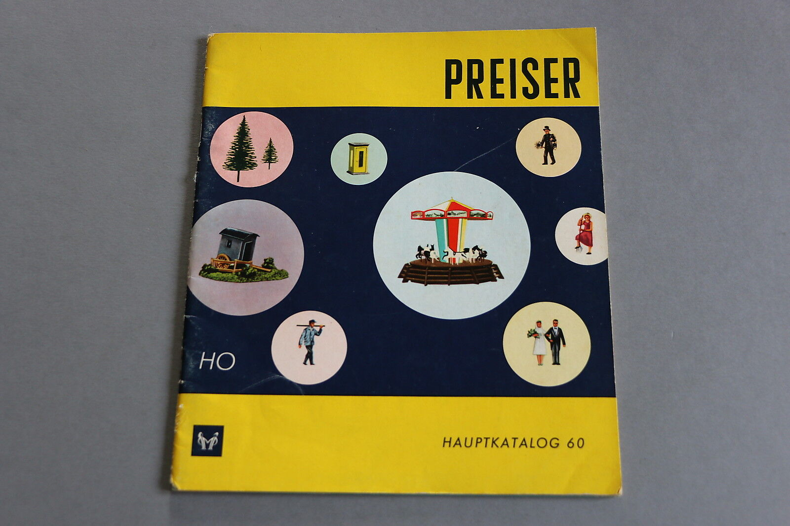 X418 PREISER Train personnage catalogueHo 1960 18*21 cm Deutsch F angl It