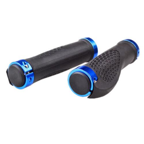 1pair Cycling Handlebar Grip LOCK-ON Handlebar Bicycle Bike Handlebar Grips Blue