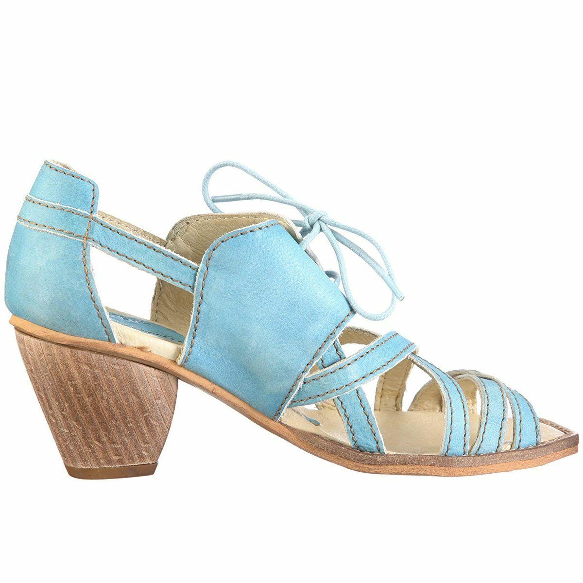 Rovers sandalias de cuero azul Lina 23011