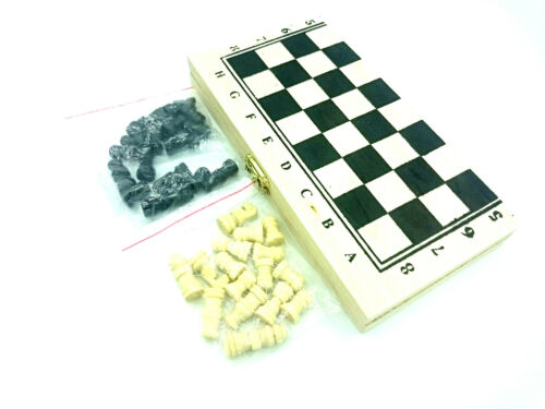Holz Schachspiel Schach Schachbrett Figuren Spielfiguren 1 Spielbrett klappbares