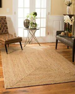 Natural-Jute-Hand-Woven-Contemporary-Modern-Braided-Reversible-Floor-Rug-Carpet