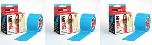 Rocktape H2O ruban extra Collant Adhésif Kinésiologie Rolls X 3-Bleu électrique